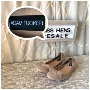 2ffdb53d370 Adam Tucker Shoes - ADAM TUCKER NORDSTROM PRESCOTT CREAM LEATHER FLATS